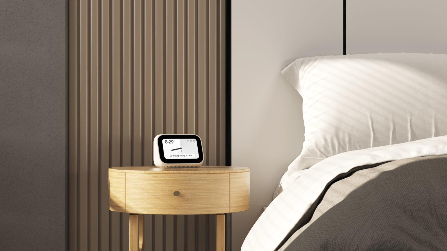 Reloj despertador Inteligente Xiaomi Mi Smart Clock en la mesita de noche