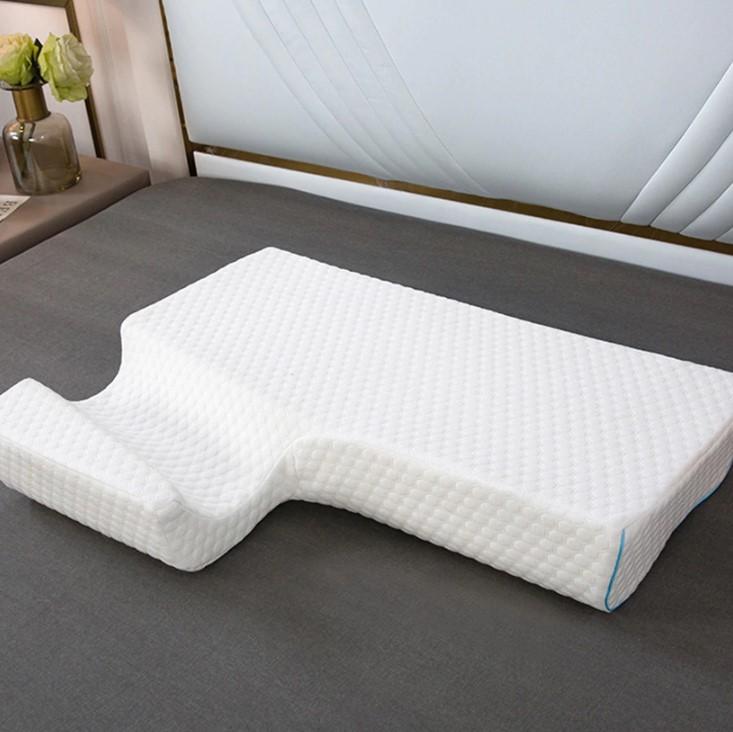 Almohada en forma de túnel para el brazo vista desde abajo