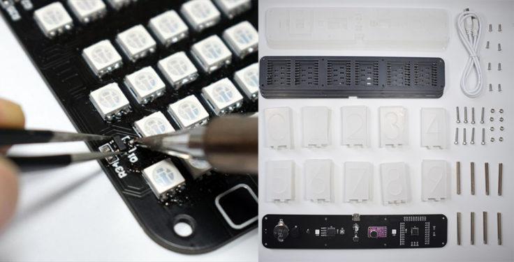 Reloj LED Geekcrait kit DIY