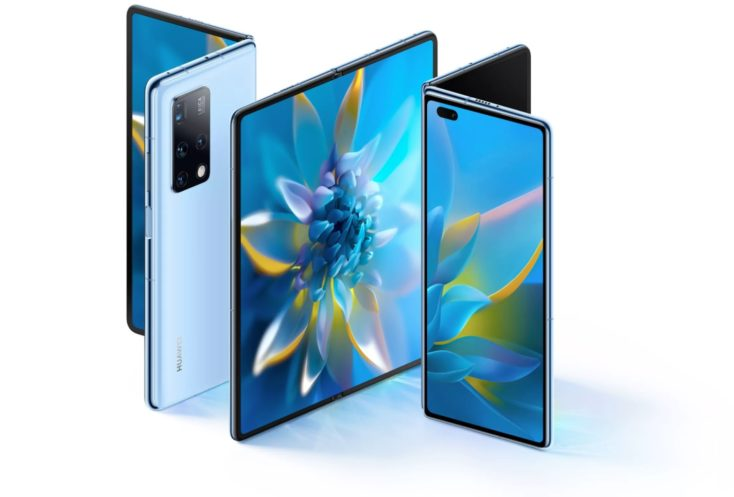 Smartphone plegable Huawei Mate X2 en azul