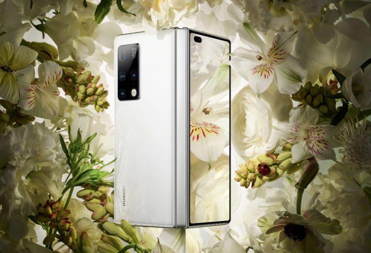 Smartphone plegable Huawei Mate X2 en blanco