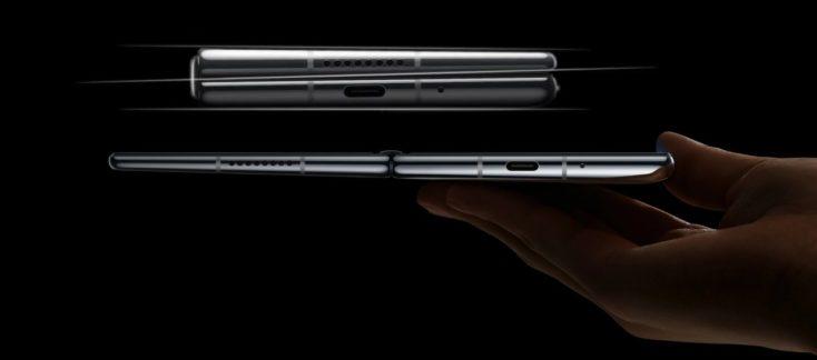 Smartphone plegable Huawei Mate X2 plegado y desplegado