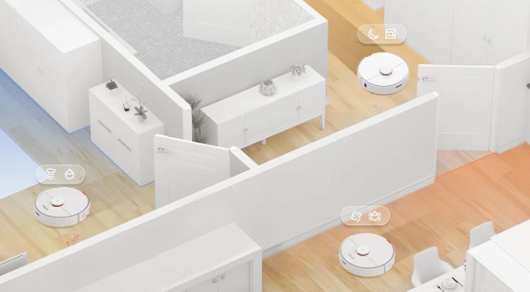 División de las habitaciones con el robot aspirador Roborock S7