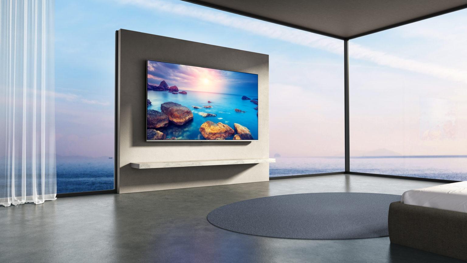 televisión Xiaomi Mi TV Q1 75 en una casa