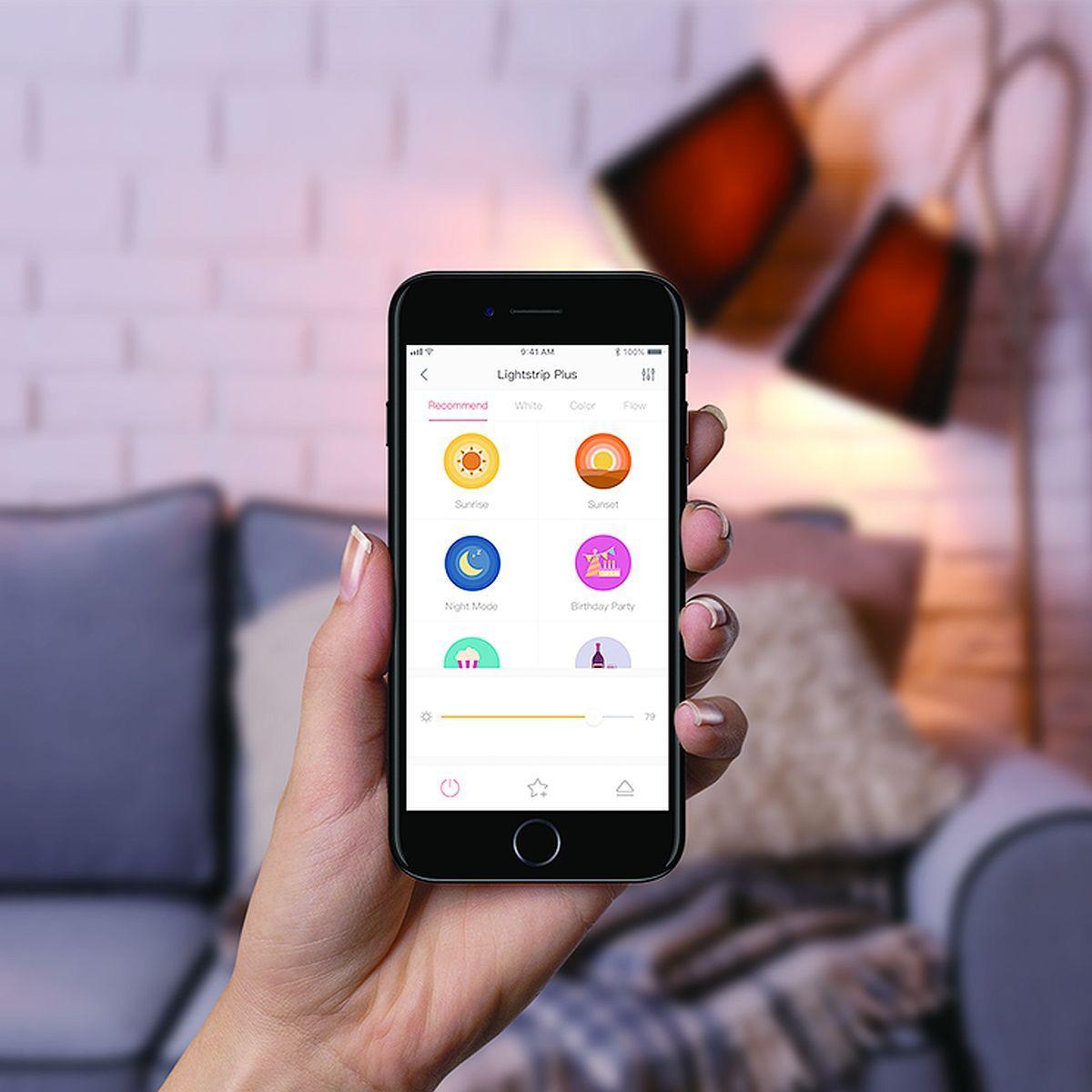 Control desde la aplicación de la tira LED inteligente Yeelight LED Strip 1S